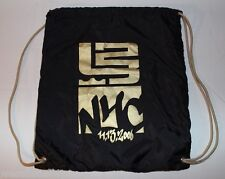 Nike Air Lebron James Graffiti Black Gold Draw String Bag 11/13/2006 NYC New
