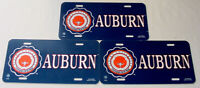 AUBURN License PLATES • Lot of 3 • New Old Stock • Tigers War Eagle Alabama