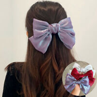 Bow French Hairpin Satin Clip Hairpin Pearly Fashion Hair Accessories