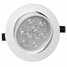 LED Ceiling Downlights Angle Adjustment Recessed Spotlights 9W Cool White