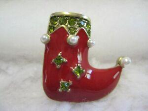 "HEIDI DAUS  ""Christmas Stocking"" (Tie-Tack Closure) Pin (For Guys/Gals)"