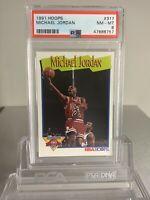 Michael Jordan 1991 Hoops #317 PSA 8 NM-MT