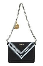 NEW Givenchy Wing Leather Card Case Wallet on Chain Black