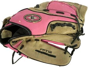 Easton FPT12, Right Hand Throw Baseball Glove, Pink And Brown 12 Inch, Used Good