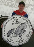 2015 ISLE OF MAN TT LEGENDS 50p COIN *FREE P&P* McGUINNESS DUNLOP HAILWOOD