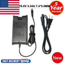 65W 5.0*7.4mm AC Adapter Charger for Dell Laptop + Power Supply Cord 19.5v 3.34a