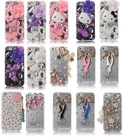Luxury 3D New Crystal Design Rhinestone Gold Pink Diamond Bling Hard Cover Case