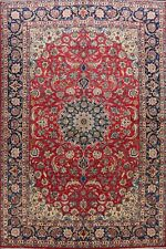 Vintage Floral Najafabad Hand-knotted Traditional Oriental Wool Area Rug 9x12 ft