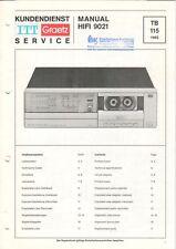 ITT GRAETZ - HIFI 9021 - Service Manual Schaltplan for tape deck - B8866