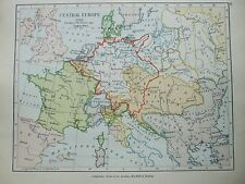 ANTIQUE PRINT MAP DATED 1905 CENTRAL EUROPE 1789 BOUNDRY OF THE EMPIRE HISTORY