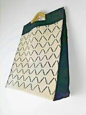 Vintage canvas rope cream black classic belt design shopper tote bag 90s retro