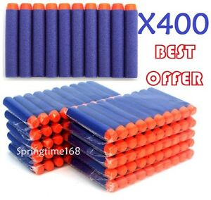 400PCS GUN REFILL BULLETS TOY DARTS ROUND HEAD BLASTERS FOR NERF N-STRIKE