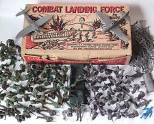 Marx Combat Landing Force Play Set Box #2649 TONS OF EXTRA PIECES