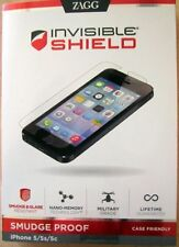 ZAGG Invisible Smudge Proof Case Friendly SHIELD for Apple iPhone 5/5S/5C  Clear
