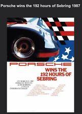 Porsche Wins The 192Hrs Of Sebring  1987 Car Poster Licensed Reprint.