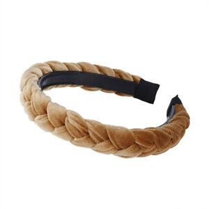 Women's Twists Hairband Velvet Braid Headband Hair Hoops Girls Hair Accessories