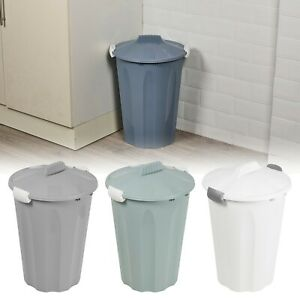 Plastic 23 Or 40 Litters Removable Lid Bins Waste Dustbin Kitchen Rubbish Can.