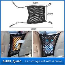 Nylon Black Mesh Cargo Net Car Seat Truck Storage Luggage Organizer Holder Hooks