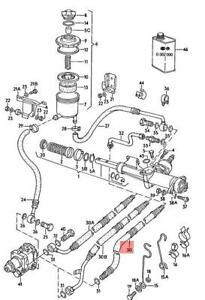 Genuine Volkswagen Extendible Hose RHD NOS AUDI VW 100 Avant 431422893