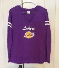 #NBA Basketball LA Lakers RHINESTONES Long sleeve Shirt WOMEN'S Large