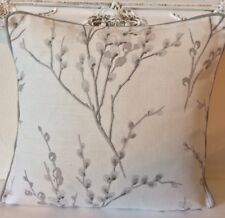 """Laura Ashley pussy willow OFF White Steel 16"""" Piped"""