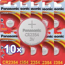 10x PANASONIC CR2354 Lithium Batterien für Polaruhr 3V