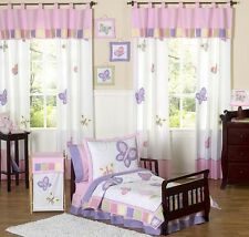 Jojo Designs Pink and Purple Butterfly Flower Girl Toddler Kid Bedding Sheet Set