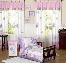 Jojo Designs Pink and Purple Butterfly Flower Girl Toddler Kid Bedding Sheet Set