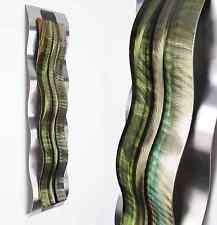 Modern Abstract Metal Wall Sculpture Art Green Tropical Painting Home Decor New