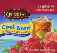 Celestial Seasonings Raspberry Cool Brew Iced Black Tea 40 Tea Bags