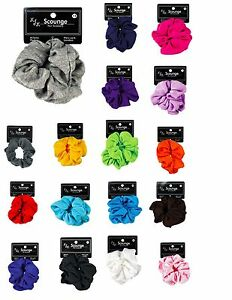 1pc Large Cotton Scrunchy Scrunchie Ponytail holder Ouchless