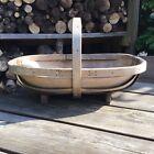 Old Vintage Large Bent Wood Garden Trug Basket