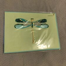 Papyrus Lori Weitzner blank green dragon fly card