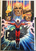 """Fatal Attractions"" (9 7/8 x 6 3/8"") Ultra Prints Fleer Ultra '94 X-Men/Magneto"