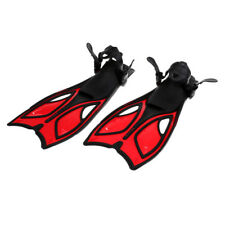 Professional Snorkel Equipment Swimming Fins Adjustable Diving Red 39-43