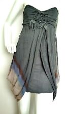 Designer BOLONGARO TREVOR silk dress size S --NEW WITH TAGS-- 100% Silk grey