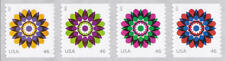 2013 46c Kaleidoscope Flowers, Strip of 4 Scott 4722-25 Mint F/VF NH