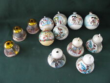 Vintage Old Fashioned Plastic Bell Ornaments Ball Ornaments 13 Plastic Ornaments