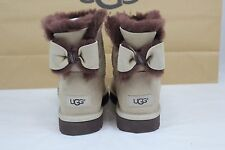 UGG NAVEAH MINI BOW MOONLIGHT COLOR SUEDE SHEEPSKIN BOOTS SIZE 9 US