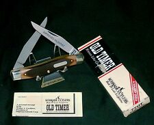 """Schrade 77Ot Muskrat Knife """"Small Game"""" Old Timer 1980's 3-7/8"""" Closed Rare Set"""