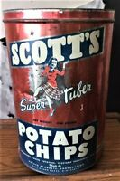 Vintage Scotts Potato Chip tin  - Old and rare