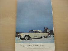 1959 Thunderbird Ad for Framing