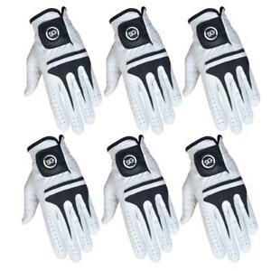 SG White full Cabretta Leather Men golf gloves Multi quantity buy pack available