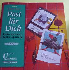 Bastelbuch Post für DICH tolle Karten flotte Sprüche  mit Vorlagen