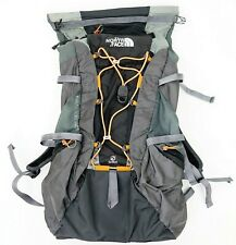 North Face Skareb 40 Gray Backpack Travel Mountain Hiking Backpacking Pack Sz M