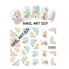 20 Stickers-Decals Nail Art water transfer-Adesivi Unghie-FATA con Fiori !!!