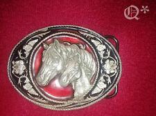 1991 Buckle Belt horse and Colt Siskiyou Buckle co Chicago