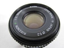 Ricoh Rikenon P 50mm f/2 Lens - Pentax K Mount