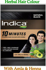 INDICA Herbal Hair Colour Color 10 Minutes With Amla & Henna NATURAL BLACK 5g
