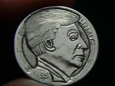 1935-P hobo nickel - DONALD J. TRUMP PRESIDENT - GENUINE CARVING